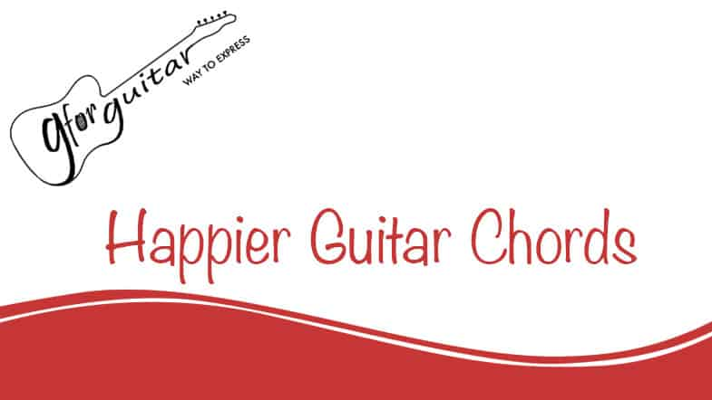 Happier Guitar Chords By Ed Sheeran