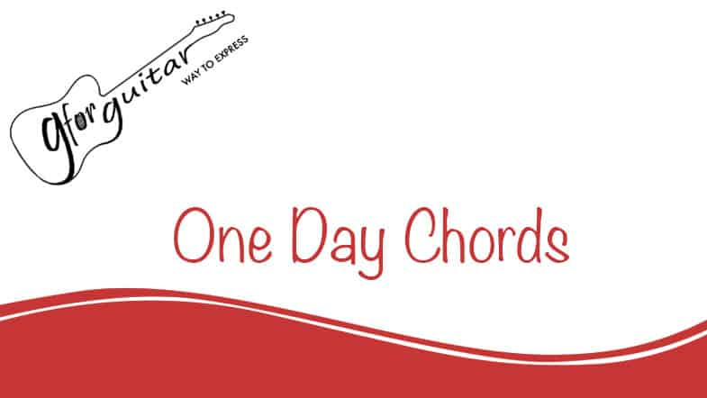 one day chords
