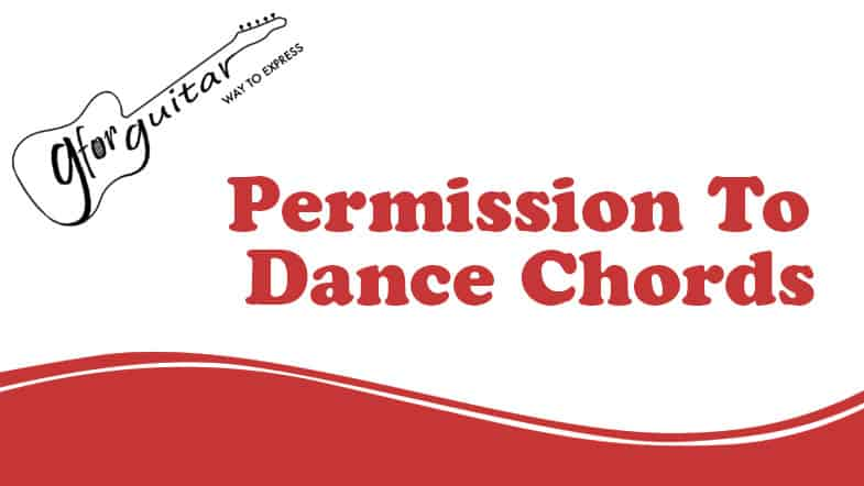 permission to dance chords